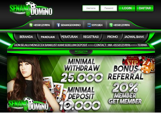Senangdomino, Situs Agen Poker Domino Online Terbaik